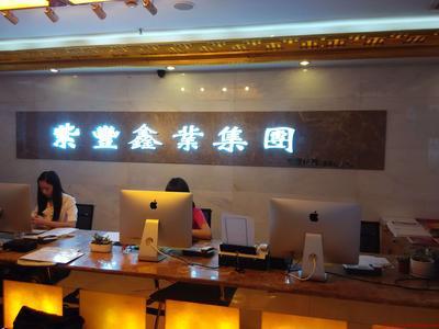 紫丰鑫业树脂字背景墙